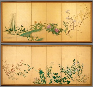 Flower and Plants of the Four Seasons (Japan, Edo Period) Source: collections.lacma.edu