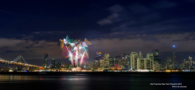 San Francisco New Year Fireworks 2013, by David Yu. From Flickr.