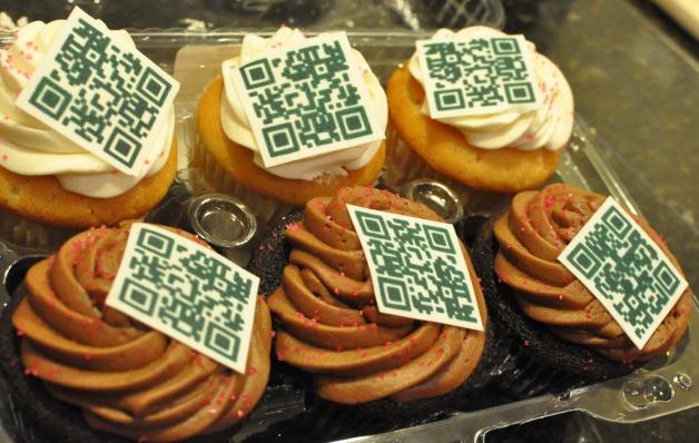 QR code cupcakes