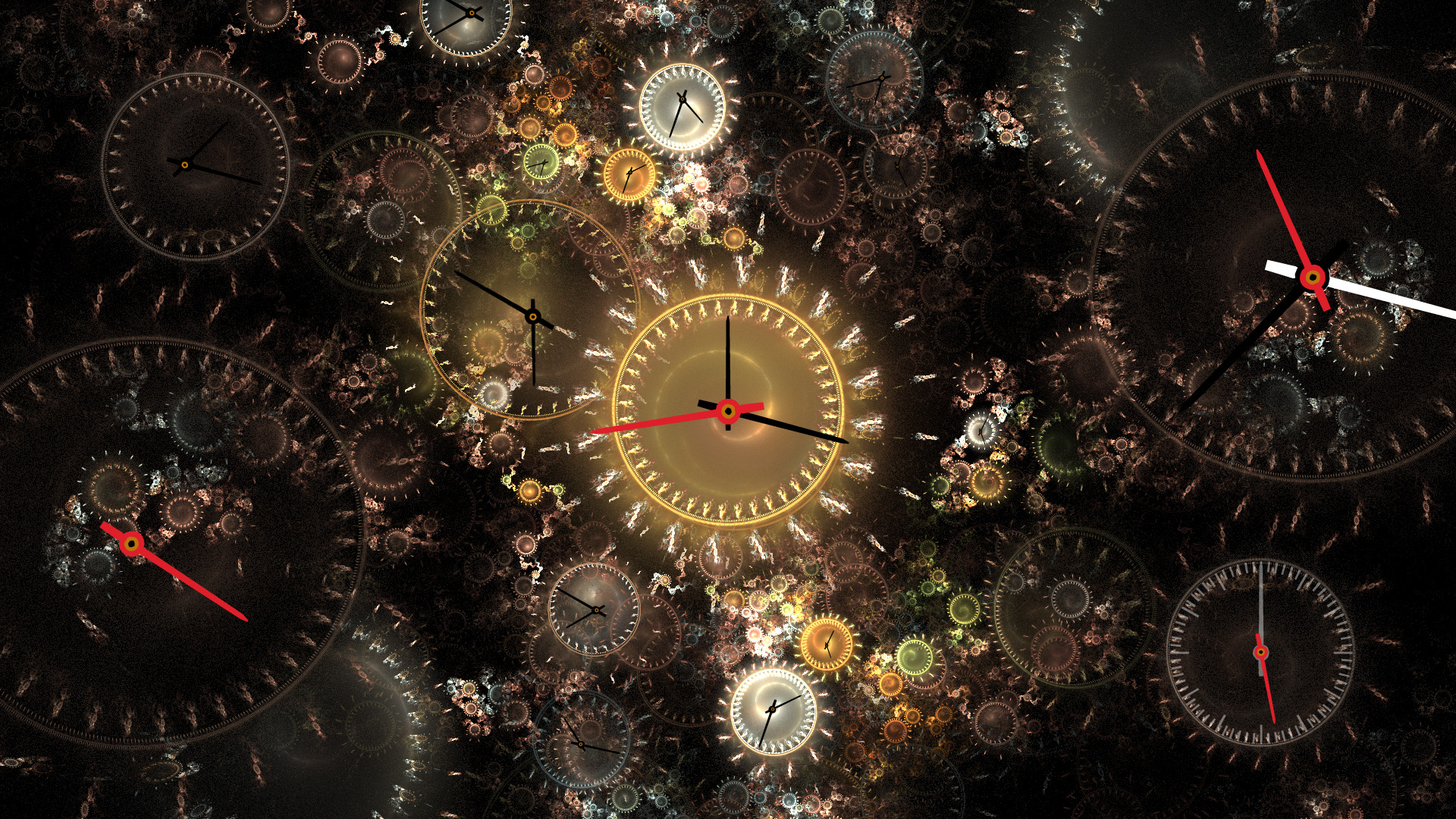 fractal clock on wikimedia commons